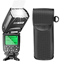 Neewer 2.4G Wireless HSS E-TTL LCD Display Master Slave Flash Speedlite for Canon DSLR Cameras, such as 7D Mark II,5D Mark II III IV, 1300D, 1200D, 750D, 700D, 600D, 80D, 70D, 60D (NW871)