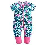 Baby Boys Girls Zipper Short Sleeve Pajama Sleeper