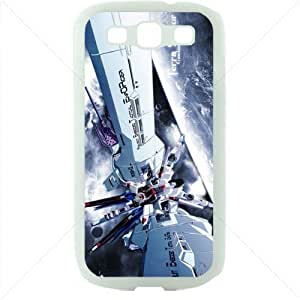Gundam Manga Anime for Samsung Galaxy S3 SIII I9300 TPU Soft Black or White case (White)