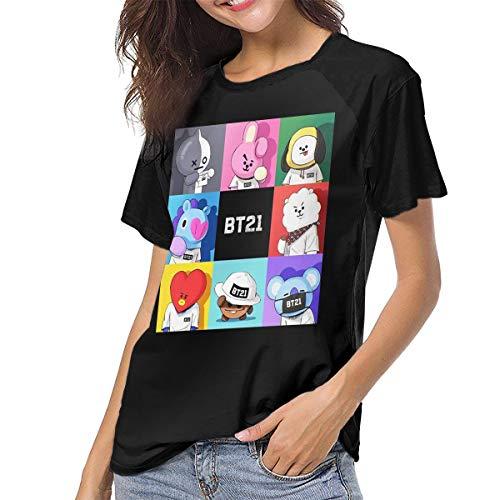 Linkondon94na Women's BTS Koya RJ Shooky Mang Chimmy Tata Cooky Van Breathable Tshirts XXL -