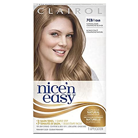 Clairol Nice 'n Easy, 7CB/106B Natural Dark Champagne Blonde, Permanent Hair Color, 1 Kit (Pack of ()