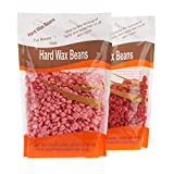 Bonjanvye Hard Wax Kit Hair Removal Wax Kit Hard Wax Beans Kit Prime 300g Rose and Strawberry