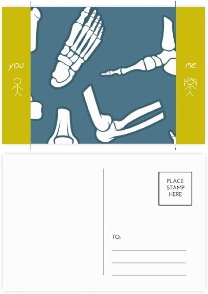 Hippocampus Marine Life Cartoon Pattern Friend Postcard Set Thanks Card Mailing Side 20pcs