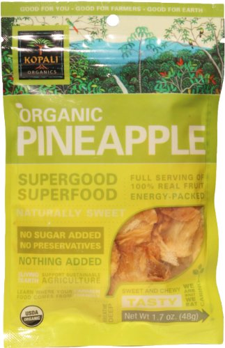 Kopali Organics Pineapple, 1.7-Ounce Pouches (Pack of 6)