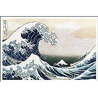 Buyartforless First Art Source - Póster de Katsushika Hokusai de La Gran Ola de Kanagawa (91 x 61 cm)