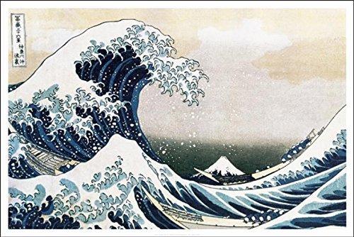 The Great Wave Of Kanagawa Katsushika Hokusai Art Print Poster 36x24 Hokusai Wave