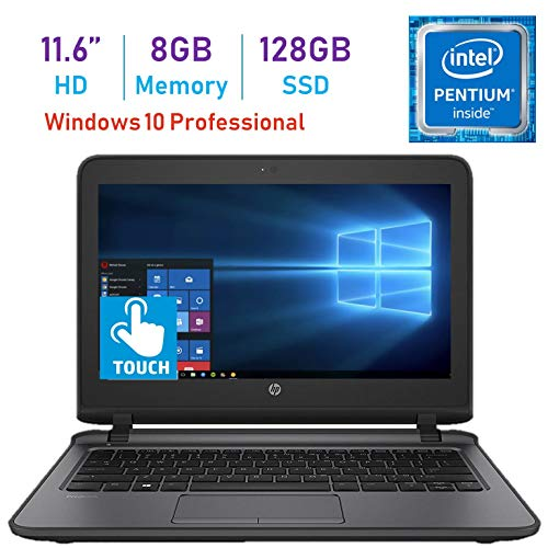 (HP Business ProBook 11.6-inch HD WLED Touchscreen Laptop PC (Intel Pentium 4405U 2.10GHz Processor, 8GB DDR4, 128GB SSD, HDMI, Webcam, WiFi, Bluetooth 4.2, Up to 13 hrs Battery, Windows 10 Pro))