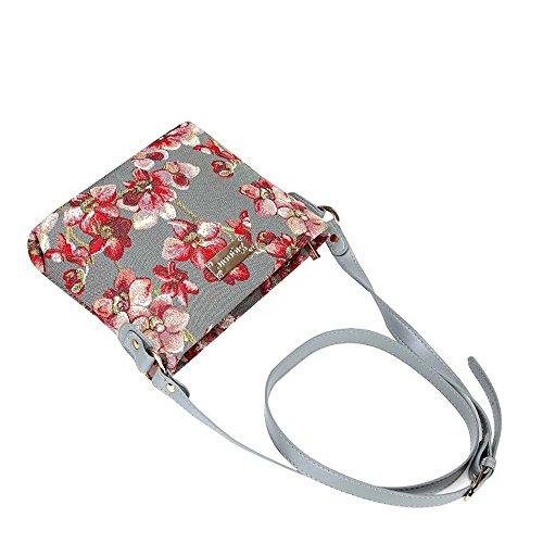 Bolso tapiz de hombro de moda Signare para mujer bolso de mano en bandolera bolso messenger Floral Orquídea