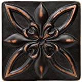 Marazzi Romance Floral Decorative Accents, 4 x 4, Venetian Bronze