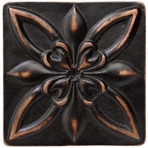 Marazzi Romance Floral Decorative Accents, 4 x 4, Venetian Bronze by Marazzi