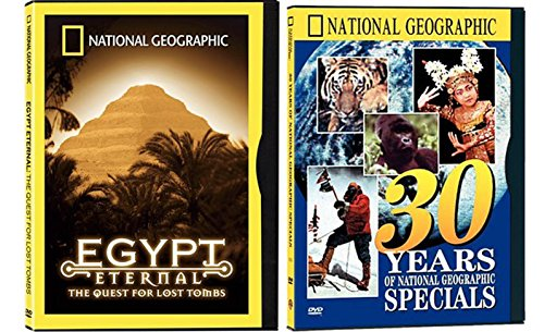 NatGeo Bundle - 30 Years of National Geographic Specials & The Egypt Eternal: The Search for Lost Tombs 2-DVD Set