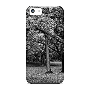 Ideal JoyRoom Case Cover For Iphone 5c(black White Trees In Hdr), Protective Stylish Case