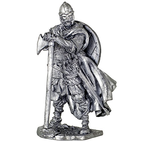 Viking 793 AD metal sculpture. Collection 54mm (scale 1/32) miniature figurine. Tin toy - Soldiers Collection