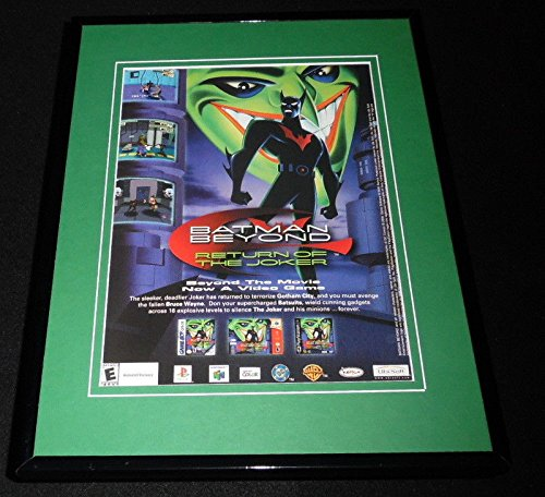 Batman Beyond Joker 2001 N64 Playstation Framed 11x14 ORIGINAL Advertisement