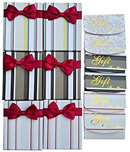 Gift Card Boxes Set with Free Gift Card Envelopes - Gift Card Holders - Decordated