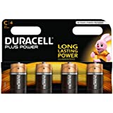 Duracell 75051872, Pila Alcalina, C x4 Plus Power
