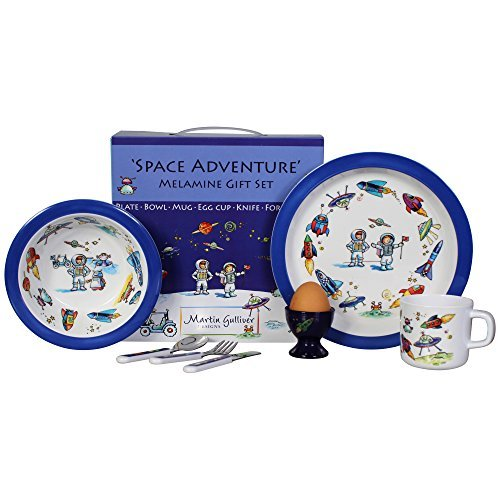 Martin Gulliver 7 Piece Melamine Gift Set - SPACE ADVENTURE by Martin Gulliver