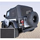Rugged Ridge 13724.15 Denim Black Soft Top with Tinted Window and Door Skin for Jeep Wrangler TJ 1997-2002