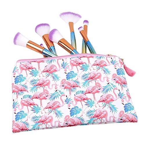 EJY Niedliches Muster Kosmetiktasche für Handtasche Damen Schminktasche Make- up Tool Bag Kulturbeutel Verfassungswerkzeug Aufbewahrungstasche (003#) 017#