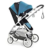 2018 New Style—Babysing high Landscape M-Go Stroller Baby Stroller Four Seasons Universal Folding cart Baby Stroller (Blue Color)