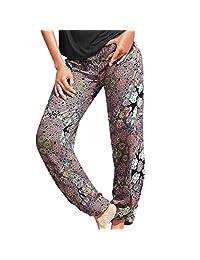 Bravetoshop Harem Pants for Women, Boho Beach Palazzo Indian Pants Wide Leg Lounge Pants