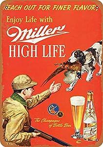 Red vintage Miller beer sign