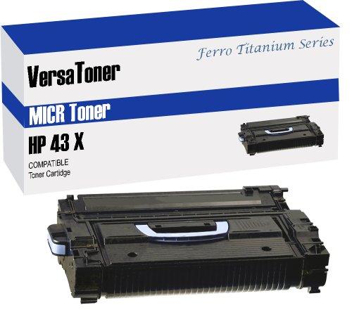 VersaToner - 43X C8543X MICR Toner Cartridge for Check Printing - Compatible with LaserJet 9000, 9040, 9050