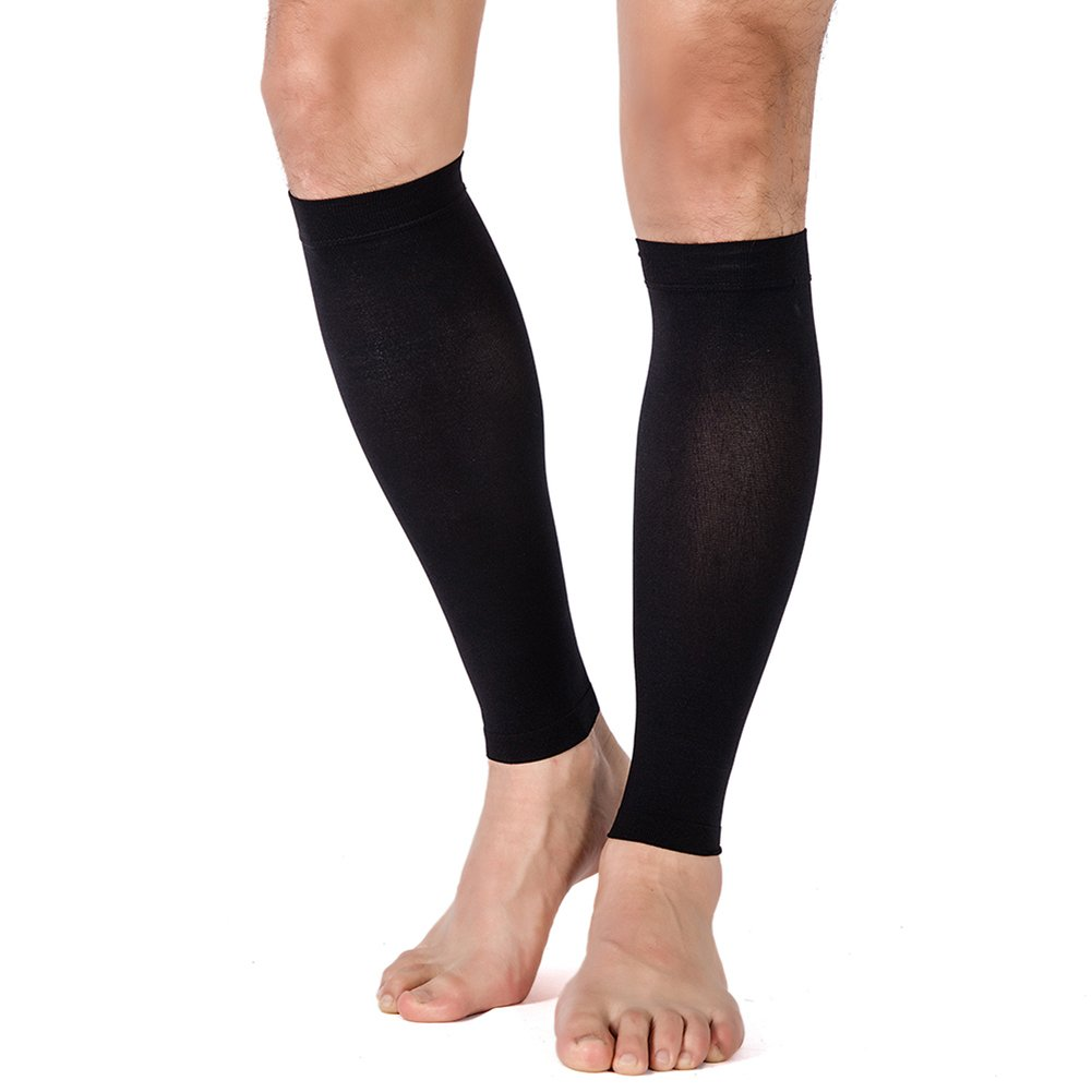Calf Compression Sleeve, 1 Pair - Men Women, Leg Compression Socks 20-30mmHg for Shin Splint by TOFLY, Relieve Calf Pain, Swelling, Varicose Veins - Maternity, Running, Cycling, Travel, Baseball