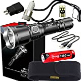 Klarus XT11X Super Bundle Includes 3200 Lumen Tactical Rechargeable Flashlight, 18650 Battery, Holster, Lanyard, USB Charging Cable, USB Wall Adapter, USB Car Adapter, and Mini USB Light For Sale