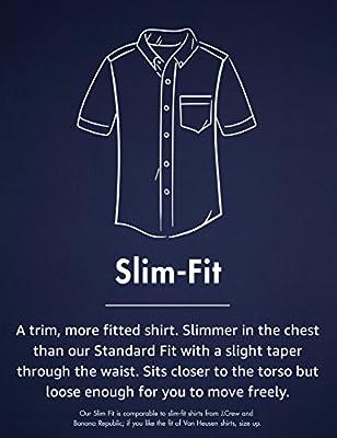 Amazon Brand - Goodthreads Men's Slim-Fit Short-Sleeve Gingham Plaid Poplin Shirt