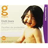 gDiapers Cloth Diaper Liners, 105 Count