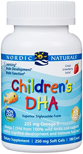 - Nordic Naturals Children's DHA 250 mg Chewables, Strawberry, 180 ct