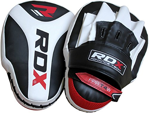 RDX Boxing Focus Mitts Punching Hook and Jab Pads MMA Training Target Thai Strike Kick Shield