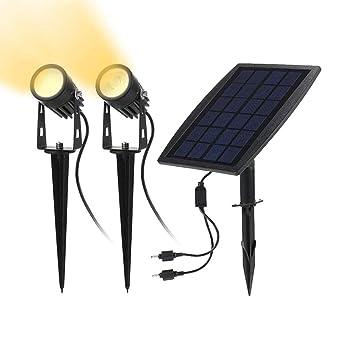 Solarleuchten Garten Solar Led Strahler Aussen 2 Stucke 3000k