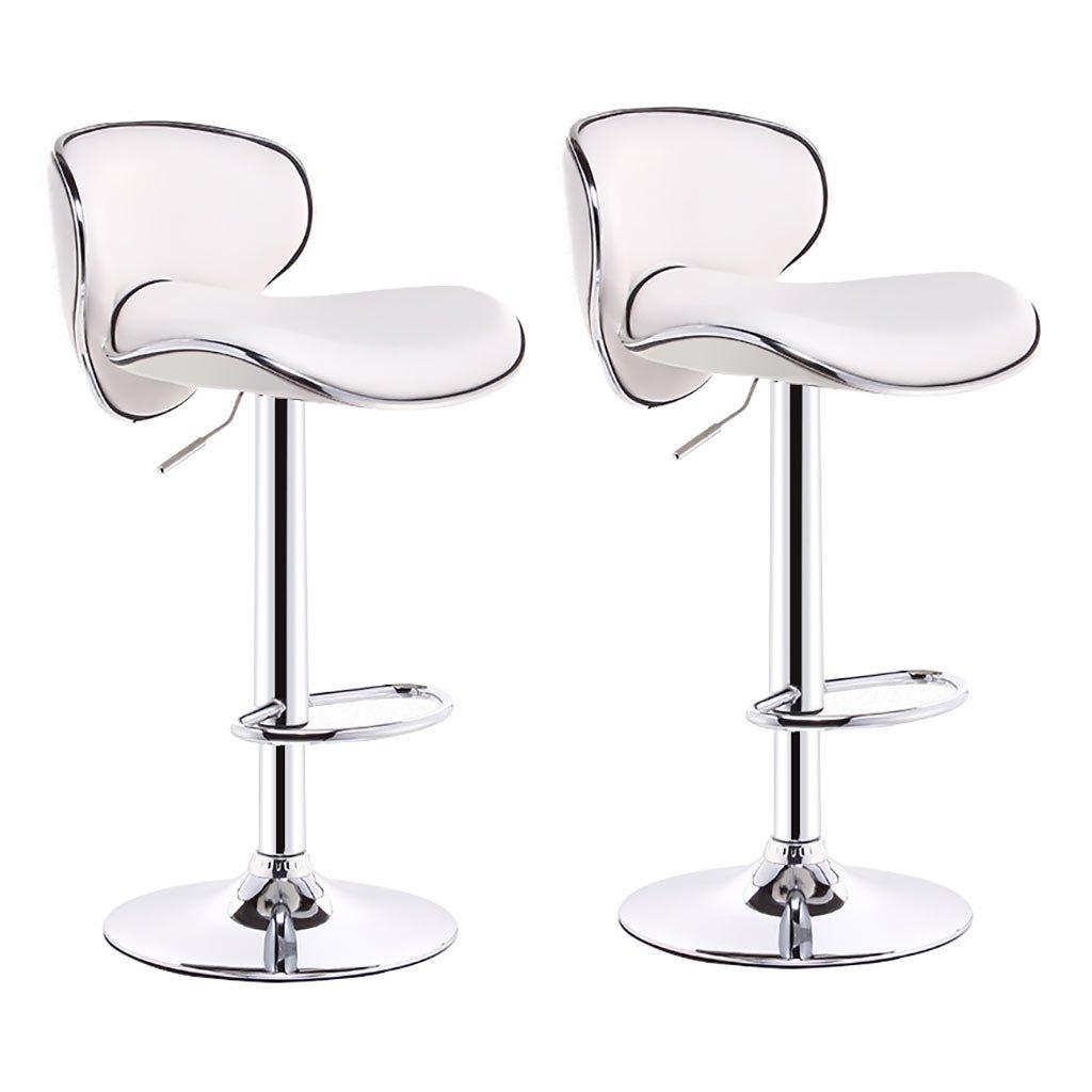 A×2 Bar Stool,Bar Chair Bar Stool Chair Counter Chair 360 Degree redation Lift Office Chair Kitchen Restaurant Bar Stool Chair Curved high Back Single Double Beauty Chair 6 colors Counter Chair