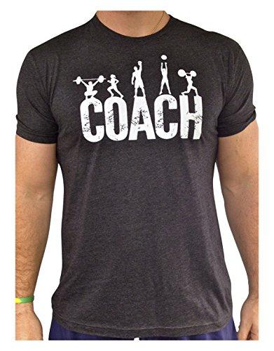SoRock Men's Coach Tri-Blend T-Shirt Charcoal Large