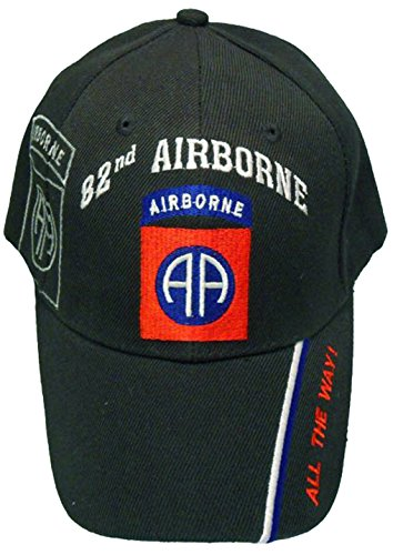 U.S. Army Division and Brigade Baseball Caps Quality Embroidered Hats (82nd Airborne All The Way)
