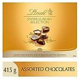 lindt swiss luxury selection gift box, fine milk, dark and white chocolate, 415g