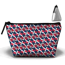 Dominican Republic Flag 3D Art Pattern Pencil Case Stationery Bag Cosmetic Bag Cosmetic Bag Storage Bag