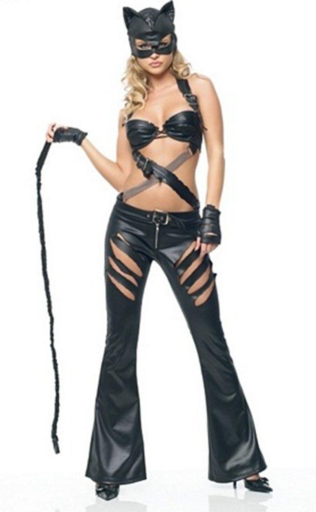 XSQR Disfraz De Gato para Mujer Cosplay Catsuit Mono De Cuero De Patente   Amazon.es  Deportes y aire libre 59b91059ed52