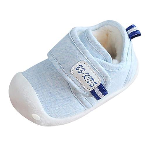Zapatos Bebe Niña Recien Nacida Invierno K-youth Lindo Zapatillas de Algodón para Infantil Zapatos