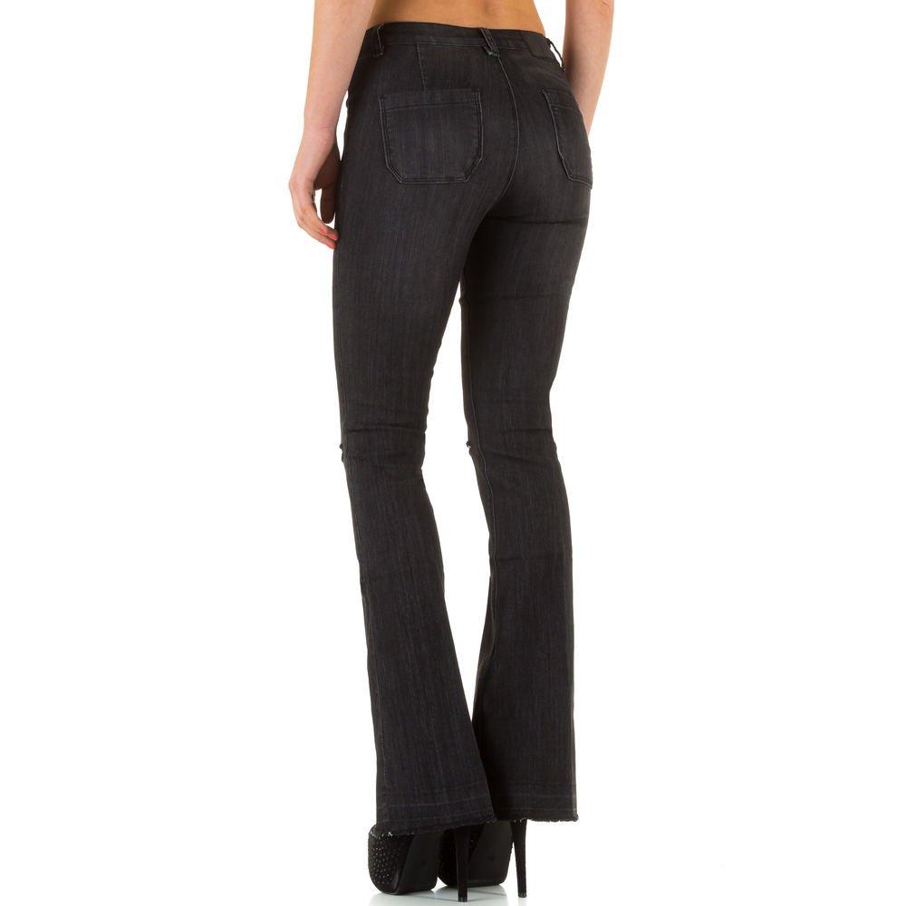 Damen Jeans, DESTROYED HIGH WAIST BOOTCUT JEANS, KL-J-23652: Amazon.de:  Bekleidung
