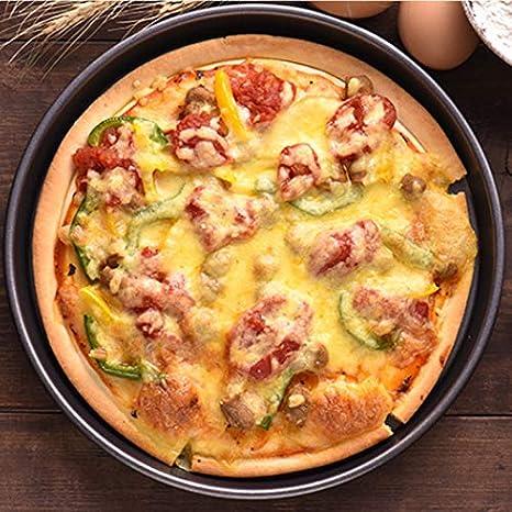 2 UNIDS Antiadherente Pizza Pan Horno Bandejas para Hornear Molde ...