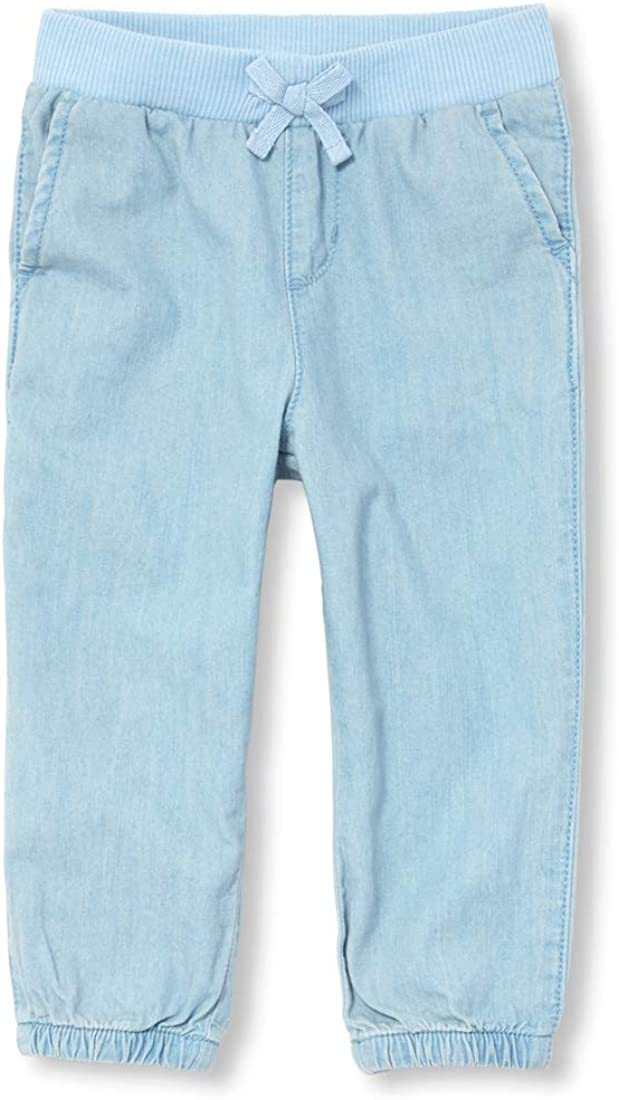 The Childrens Place Baby Girls Solid Twill Jogger Pants