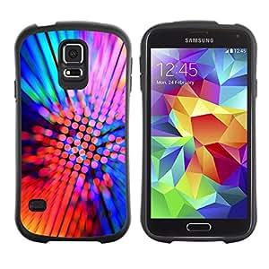 Pulsar iFace Series Tpu silicona Carcasa Funda Case para SAMSUNG Galaxy S5 V / i9600 / SM-G900F / SM-G900M / SM-G900A / SM-G900T / SM-G900W8 , Design Party Neon