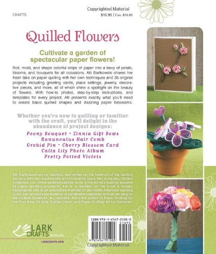 Flowers book quilled