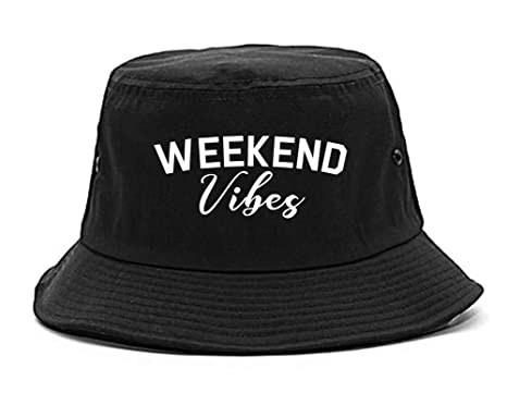 c1abffd4ee39d Amazon.com  Weekend Vibes Party Bucket Hat Black  Clothing