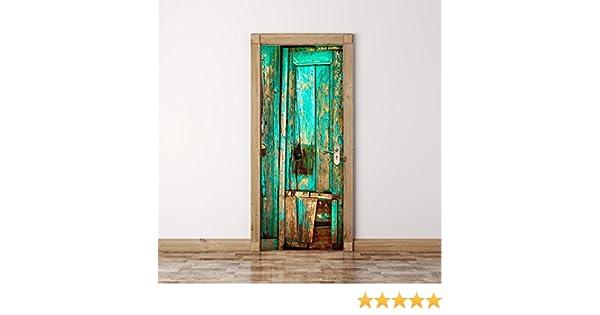 YYH Etiquetas engomadas Pared Puerta 3D Etiquetas engomadas desprendibles Vinilo Papel Pintado para la decoración casera, pelan y palillo - Fácil-a-Limpio,Durable,los 77 * 200CM,15#: Amazon.es: Hogar