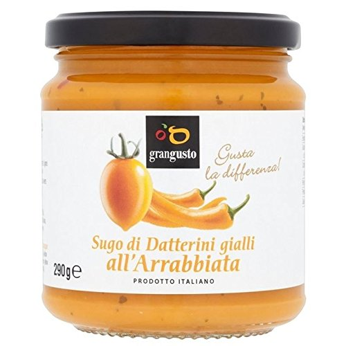 Grangusto Amarillo Del Tomate Y Guindilla 290g De Salsa Para Pasta (Paquete de 6)