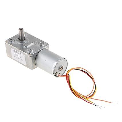 MagiDeal Motor de Engranaje Sin Escobillas de Caja de Gusano de Turbo de Alto Par 24V